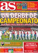 Portada diario AS del 11 de Abril de 2012