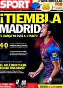 Portada diario Sport del 11 de Abril de 2012