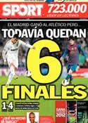 Portada diario Sport del 12 de Abril de 2012