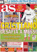 Portada diario AS del 13 de Abril de 2012