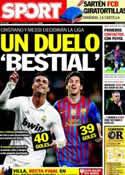 Portada diario Sport del 13 de Abril de 2012