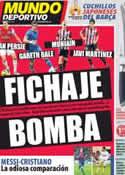 Portada Mundo Deportivo del 13 de Abril de 2012