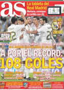 Portada diario AS del 14 de Abril de 2012