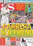 Portada diario AS del 15 de Abril de 2012