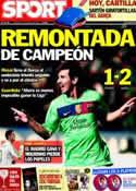Portada diario Sport del 15 de Abril de 2012