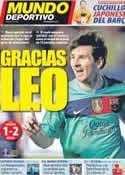 Portada Mundo Deportivo del 15 de Abril de 2012