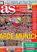Portada diario AS del 16 de Abril de 2012