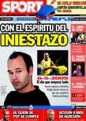 Portada diario Sport del 16 de Abril de 2012