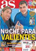 Portada diario AS del 17 de Abril de 2012