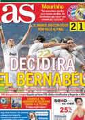 Portada diario AS del 18 de Abril de 2012