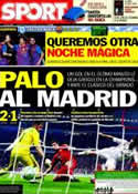 Portada diario Sport del 18 de Abril de 2012