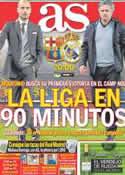 Portada diario AS del 21 de Abril de 2012
