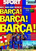 Portada diario Sport del 21 de Abril de 2012