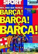 Portada diario Sport del 21 de Abril de 2012