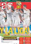 Portada diario AS del 22 de Abril de 2012