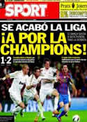 Portada diario Sport del 22 de Abril de 2012