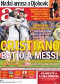 Portada diario AS del 23 de Abril de 2012