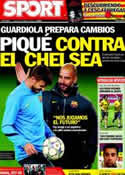 Portada diario Sport del 23 de Abril de 2012