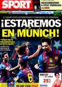 Portada diario Sport del 24 de Abril de 2012