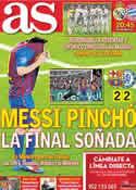 Portada diario AS del 25 de Abril de 2012