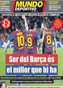 Portada Mundo Deportivo del 25 de Abril de 2012