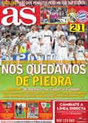 Portada diario AS del 26 de Abril de 2012