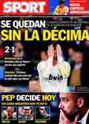 Portada diario Sport del 26 de Abril de 2012