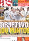 Portada diario AS del 28 de Abril de 2012