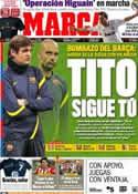 Portada diario Marca del 28 de Abril de 2012