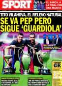 Portada diario Sport del 28 de Abril de 2012