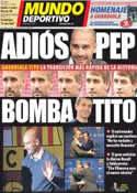 Portada Mundo Deportivo del 28 de Abril de 2012