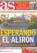 Portada diario AS del 29 de Abril de 2012
