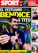 Portada diario Sport del 29 de Abril de 2012