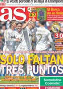 Portada diario AS del 30 de Abril de 2012
