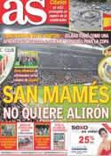Portada diario AS del 1 de Mayo de 2012