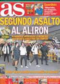 Portada diario AS del 2 de Mayo de 2012