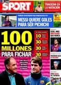 Portada diario Sport del 2 de Mayo de 2012