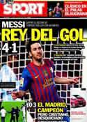 Portada diario Sport del 3 de Mayo de 2012