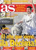 Portada diario AS del 4 de Mayo de 2012