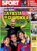 Portada diario Sport del 4 de Mayo de 2012
