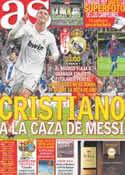 Portada diario AS del 5 de Mayo de 2012