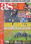 Portada diario AS del 6 de Mayo de 2012