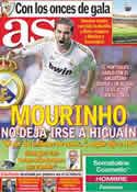 Portada diario AS del 7 de Mayo de 2012