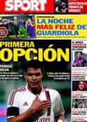 Portada diario Sport del 7 de Mayo de 2012