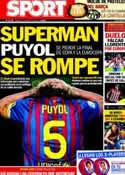 Portada diario Sport del 9 de Mayo de 2012
