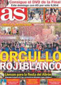 Portada diario AS del 11 de Mayo de 2012