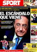Portada diario Sport del 11 de Mayo de 2012