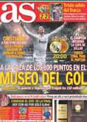 Portada diario AS del 13 de Mayo de 2012
