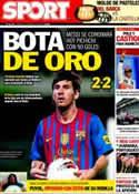 Portada diario Sport del 13 de Mayo de 2012