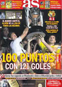 Portada diario AS del 14 de Mayo de 2012